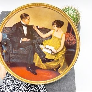 Flirting In The Parlor by Norman Rockwell plate